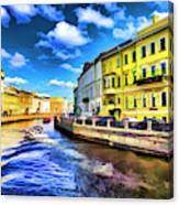 Yellow Canal Canvas Print