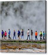 Yellowstone Lineup Canvas Print