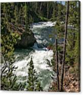 Yellowstone Rapids Canvas Print