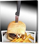 Yopper Burger Canvas Print