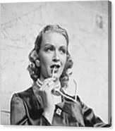 Young Actress Canvas Print