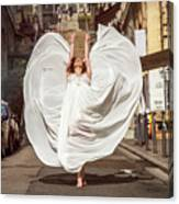 Young Female Dancer In The Streets Canvas Print