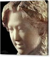 Young Girl-part-arttopan Carving-realistic Stone Sculptures-marble Canvas Print