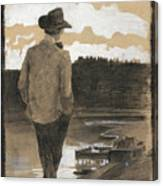 Young Man On A Riverbank Canvas Print