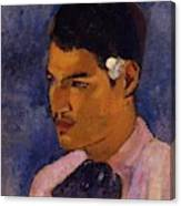 Young Man With A Flower Behind His Ear 1891 Canvas Print