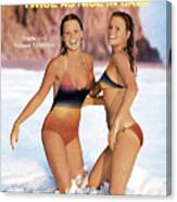 Yvette And Yvonne Sylander Swimsuit 1976 Sports Illustrated Cover Canvas Print