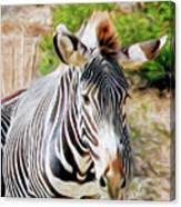 Zebra Rendition I Canvas Print