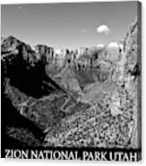 Zion Nationa Park Utah Canvas Print