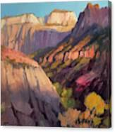 Zion's West Canyon Canvas Print