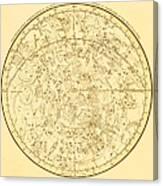 Zodiac Map Canvas Print