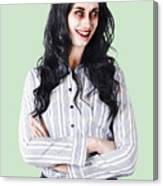 Zombie Businesswoman Canvas Print