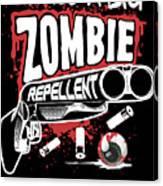 Zombie Repellent Halloween Funny Gun Art Dark Canvas Print