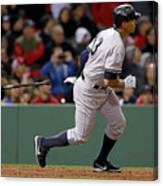 Alex Rodriguez and Willie Mays Canvas Print