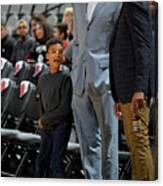 Bruce Bowen and Monty Williams Canvas Print