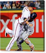 Carl Crawford and Martin Prado Canvas Print