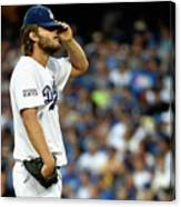 Clayton Kershaw and Jhonny Peralta Canvas Print