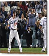 Cody Bellinger and Max Muncy Canvas Print
