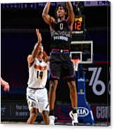 Denver Nuggets v Philadelphia 76ers Canvas Print