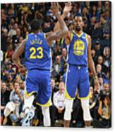 Draymond Green and Kevin Durant Canvas Print