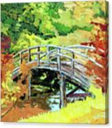 Drum Bridge in Autumn Canvas Print