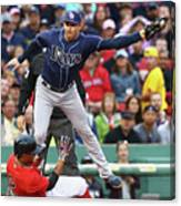 Evan Longoria and Xander Bogaerts Canvas Print