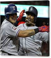 Jean Segura and Shin-soo Choo Canvas Print