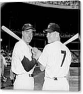 Joe Dimaggio and Mickey Mantle Canvas Print