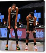 Kevin Durant and Kyrie Irving Canvas Print
