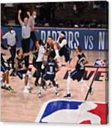 Los Angeles Clippers v Dallas Mavericks - Game Four Canvas Print