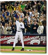 Lou Gehrig And Derek Jeter Canvas Print