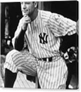 Lou Gehrig Canvas Print