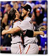 Madison Bumgarner and Buster Posey Canvas Print