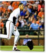 Manny Machado and Yordano Ventura Canvas Print