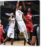 Miami Heat v Los Angeles Clippers Canvas Print
