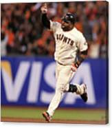 Pablo Sandoval and Justin Verlander Canvas Print