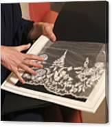 Royal Wedding Dress Designer And Hairdresser Give Interviews Canvas Print