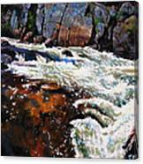 Rushing Waters Colorado Canvas Print