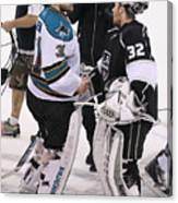 San Jose Sharks v Los Angeles Kings - Game Seven Canvas Print