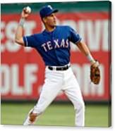Seattle Mariners V Texas Rangers Canvas Print