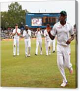 South Africa v England - Fourth Test: Day Three Canvas Print