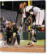 Starling Marte And Buster Posey Canvas Print