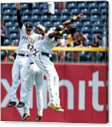 Starling Marte and Gregory Polanco Canvas Print
