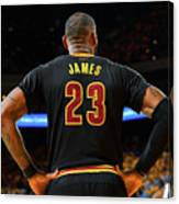 Stephen Curry and Lebron James Canvas Print