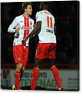 Stevenage v Stourbridge - FA Cup Second Round Canvas Print