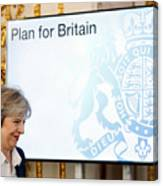 The British Prime Minister Delivers Her Brexit Speech Canvas Print