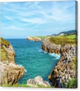 The Cantabrian Coast By Llanes, Asturias In Spain Canvas Print