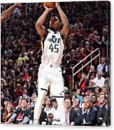 Donovan Mitchell Canvas Print