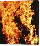 Closeup of Fire at time of festival Canvas Print