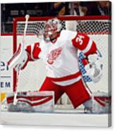 Detroit Red Wings v New Jersey Devils Canvas Print