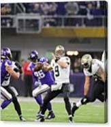 Divisional Round - New Orleans Saints v Minnesota Vikings Canvas Print